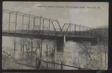 Postcard HANCOCK Maryland/MD  Potomac River Dual Arch Steel Span Bridge 1907
