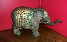 VINTAGE Beautiful Antique Cast Iron Circus Elephant