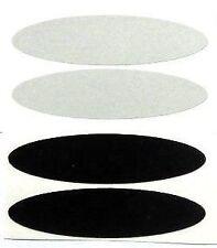 bande casque moto reflechissante OVALE mix 2 noir et 2 blanc PRODUIT europeen