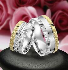 2 Echt Silber 925 Trauringe Eheringe Verlobungsringe , Gravur Gratis , J329-GW