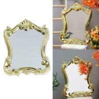 Dollhouse Miniature Mirror Royal Wedding Gold Frame 1:12 E5V3 C8W7 V3G6