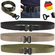 DE Militär Taktisch Gürtel Nylon Schnalle Außen Training Tactical Belt Waistband
