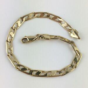 """14K Gold 4.25mm Solid Link Chain Bracelet 7"""" 7.1grams"""