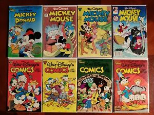 Walt Disney's Mickey Mouse Donald Duck Comics And Stories 8 Comic Book Lot