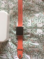 Apple Iwatch 1st Generation Red Strap Charger And Box