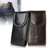 Vertical Leather Case Cover Pouch Holster Belt Clip for iPhone 11 X 8 7 6S PLUS