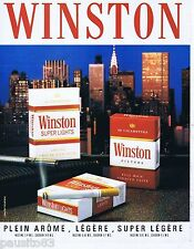 PUBLICITE ADVERTISING 075  1988  WINSTON   cigarettes