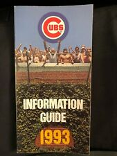 Chicago Cubs 1993 Media Guide - RARE