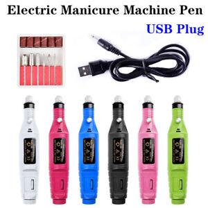 Electric Machine Manicure Nail Drill Bits Set Pedicure Portable Nail Buffer File