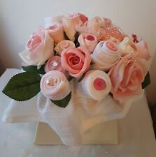 Beautiful Large Baby Clothing Bouquet Pink Girls Pretty Baby shower Gift Quality