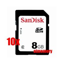 10x SanDisk 8GB SD SDHC 8G Class 4 Memory Card Bulk Package Lot of 10pcs