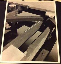 VINTAGE 1940'S TRAIN RAILWAY BRIDGE PHOTO 8X10