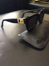 Versace Vintage Sunglasses 465A Col.852 Black With Gold Medusa 100% Authentic