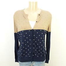 STEFFEN SCHRAUT Cardigan Strickjacke Knit Beige Blau Strass Gr. 42 (AB225)