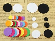 Round  Non-woven Circles Felt Pads For Flower,Brooches' Back Pick Your Size