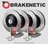 [F&R] BRAKENETIC PREMIUM GT SLOT Brake Rotors+POSI QUIET Pads w/BREMBO BPK90191
