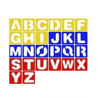 26Pcs Alphabet Stencils Set Plastic Letter Painting Drawing Templates Student`
