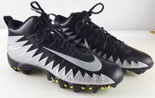 New Nike Alpha Menace Pro Mid Football Cleats sz 9 871451 010 Silver Black