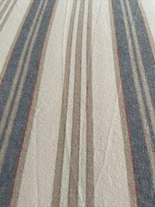 preowned duvet cover pottery barn full/queen Linen cotton Red White Blue stripe