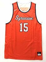 New Nike Men's L Syracuse Throwback Hyper Elite Basketball Jersey Orange 703565