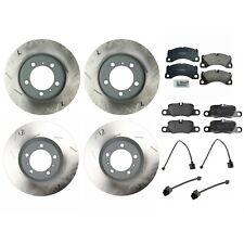 For Porsche Panamera Complete Front & Rear Disc Brake Rotors Pad Set & Sensors