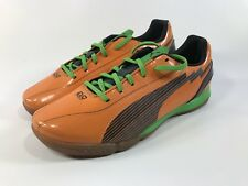Puma Evo Speed 5 Orange Green Blue Indoor Soccer Cleats Boots Youth Kids Size 5