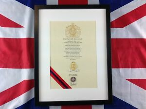 Royal Hampshire Regiment Oath Of Allegiance With Cap Badge And Shilling