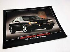 1997 Pontiac Bonneville 40th Anniversary Information Sheet Brochure