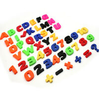 52tlg.Magnet Buchstaben Zahlen Magnetbuchstaben Kühlschrankmagnet Lernspiel
