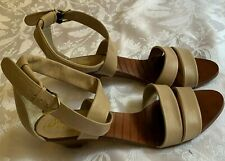 Vintage Arpeggios Leather Taupe Brazilian Sandals Buckled Ankle Strap Size 7.5