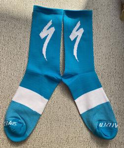 New SPECIALIZED S-Works CYCLING SOCKS Aqua Blue UK SIZE 39-45 road bike socks