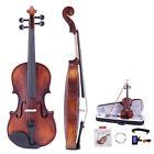 4/4 Size Handmade Violin Fiddle with Case Bow Tuner Strings Rosin Shoulder Rests for sale