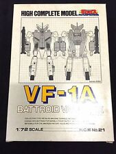 Macross VF-1A HCM High Complete Model Valkyrie 1/72 Bandai New Robotech Veritech