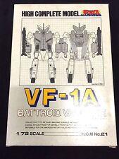 Macross VF-1A HCM High Complete Model Valkyrie 1/72 Bandai New Robotech Veritech