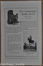 1922 KODAK advertisement, No. 1 Autographic Kodak Special, folding camera
