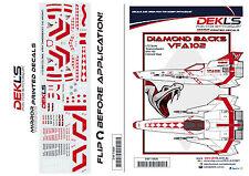 Decals  - Colonial Viper - 'Diamondbacks' CAG Scheme 1/72 Scale