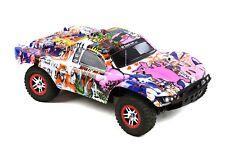 Custom Body Graffiti Pink Pig for Traxxas 1/10 Slash Truck Car Shell Cover 1:10