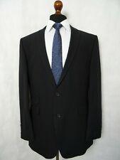 Men's St George By Duffer Tailored Fit Black Cotton Blend Suit 46R W40 L32 LD608