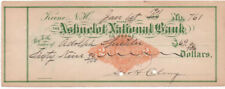 1901 Check, ASHUELOT NATIONAL BANK of Keene, New Hampshire