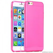 2X Hot Pink TPU Gel Jelly Case Cover For iPhone 7