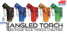 5 Pk 45 Degree Angle Jet Flame Blink Butane Torch Lighter Refillable Windproof