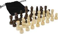 DA VINCI Staunton Wood Chess Pieces 32 Chessmen and Storage Bag (2.5 Inch King)