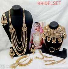 Indische Steinperle Traditionelle Halskette Brautschmuck Combo Kostüm