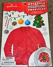 Winter-Christmas-Ugly Sweater Cling Decorations-Hallmark-Fun-New