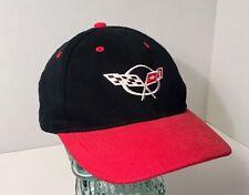 Chevrolet Corvette Red/Black Racing Flag Adjustable Cap Hat