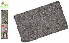 Magic Clean Steps Door Mat Super Absorbent Entrance Mat Non Slip Grey 70x45cm