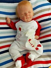 Extremely Realistic and Cute Reborn Baby Doll Ellis by Olga Auer w Belly Plate