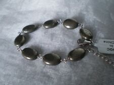 Pyrite bracelet, 65 carats, 6 to 8 inches, in 1.9 grams, of 925 Sterling Silver