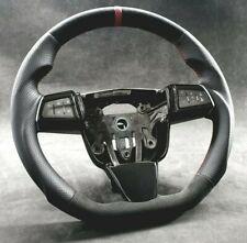 Custom flat bottom steering wheel Cadillac CTS-V Cts 2008–2013 Suede Alcantara