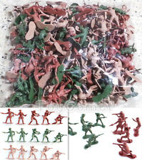 120 pcs Western Cowboys Green Red Tan 5cm Figures Plastic Toy Soldiers Army Men